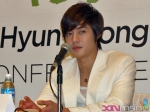 Hyun Joong waits for the next question...